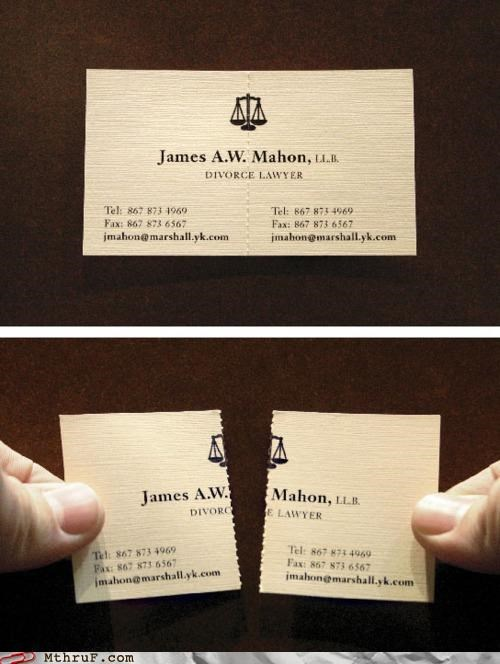business cards,clever cards,divorce lawyers