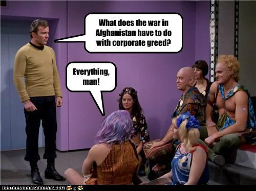 Captain Kirk,corporate,hippies,occupy,protesters,Shatnerday,Star Trek,William Shatner