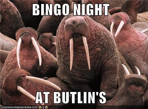 BINGO NIGHT  AT BUTLIN'S