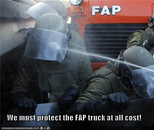 We must protect the FAP truck at all cost!