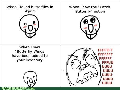 best of week,butterflies,Rage Comics,Skyrim,wings