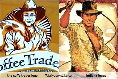 coffee trader logo,funny,Harrison Ford,Indiana Jones,TLL