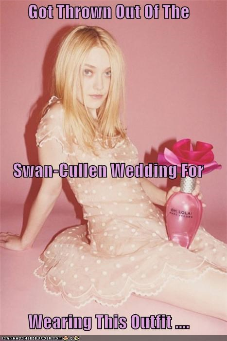 Got Thrown Out Of The  Swan-Cullen Wedding For  Wearing This Outfit ....