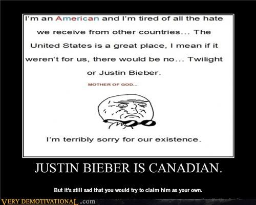JUSTIN BIEBER IS CANADIAN