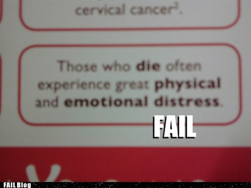 Symptoms Include FAIL