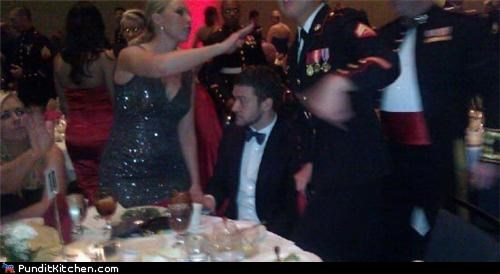 army,ball,celeb,Justin Timberlake,Marine Corps,marines,political pictures