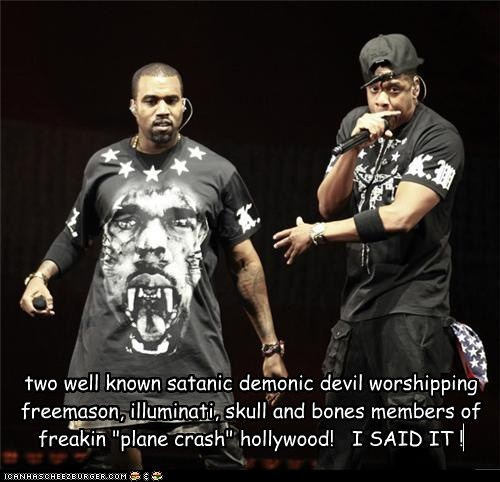 "two well known satanic demonic devil worshipping freemason, illuminati, skull and bones members of freakin ""plane crash"" hollywood!   I SAID IT !"