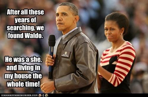 barack obama,Michelle Obama,political pictures,waldo