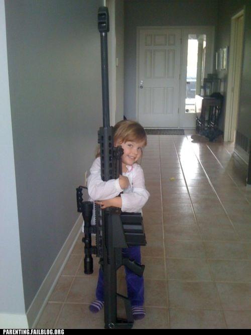 gun,huge,kid,naughty or nice,NRA,Parenting Fail,posing,rifle,wait what