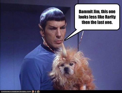 Bronies,illogical,Leonard Nimoy,my little pony,rarity,Spock,Star Trek