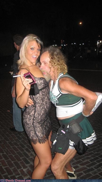 gross cheerleader,mysteries,why is she smiling
