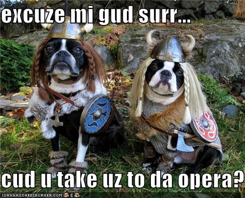excuze mi gud surr...  cud u take uz to da opera?