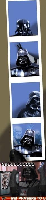 Alec Guinness,darth vader,nooooooooooo,obi-wan kenobi,photo booth,photobomb,star wars,yoda