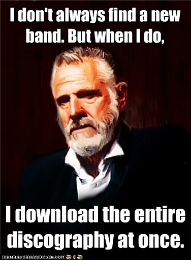 I Don't Always Only Listen to Their Latest Single...