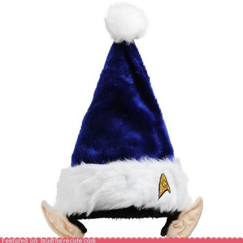 christmas,ears,elf,hat,santa,Spock,Star Trek