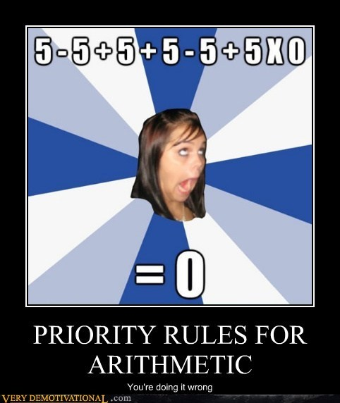 PRIORITY RULES FOR ARITHMETIC