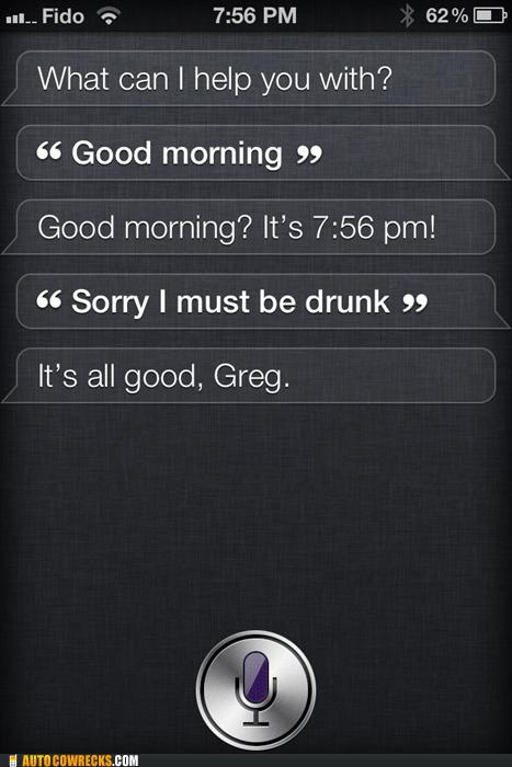Siri Forgives You For Your Hangover