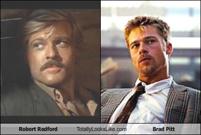 Robert Redford Totally Looks Like Brad Pitt