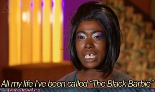 black barbie,not a barbie,oh god why