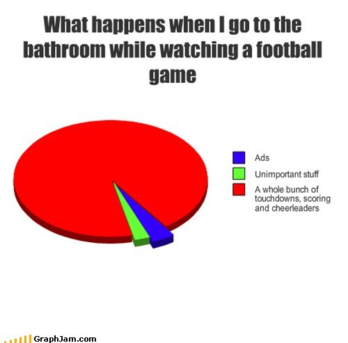 bathroom,epic,football,Pie Chart,play,sports