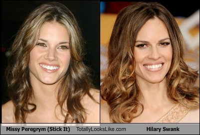 Missy Peregrym (Stick It) Totally Looks Like Hilary Swank