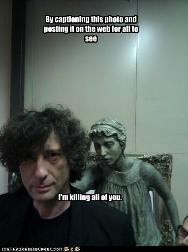 caption,doctor who,image,killing,neil gaiman,weeping angels