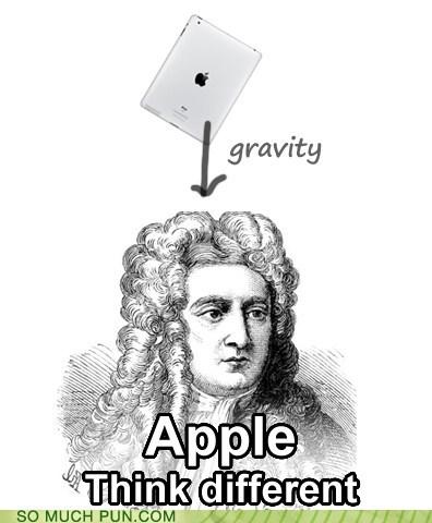 anecdote,apple,double meaning,Gravity,ipad,isaac newton,macintosh,physics