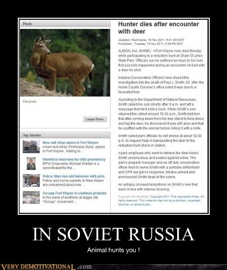 deer,hilarious,hunter,russia,soviet