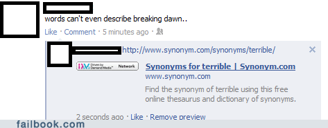 breaking dawn,review,synonyms,twilight,witty reply