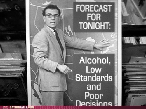 alcohol,bad decisions,forecast,standards,vintage,We Are Dating,weather