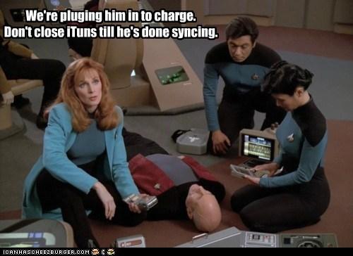 doctor beverly crusher,gates mcfadden,jean-luc picard,patrick stewart,Star Trek