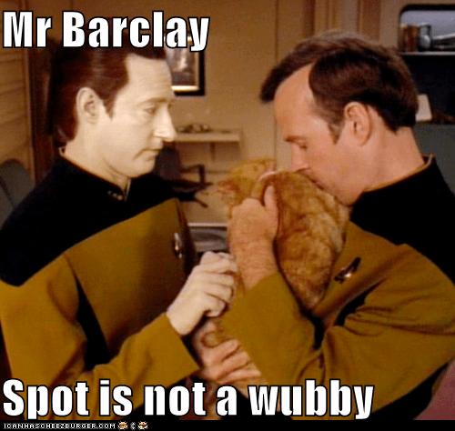 barclay,brent spiner,cat,data,spot,Star Trek