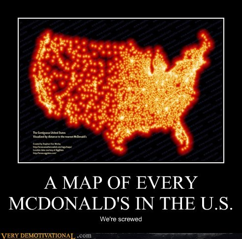 A MAP OF EVERY MCDONALD'S IN THE U.S.