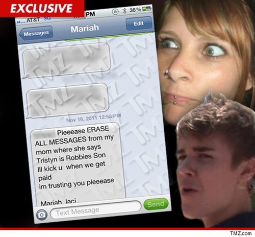 Bieber Baby Mama Texts of the Day