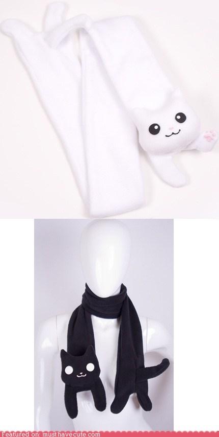 apparel,best of the week,cat,longcat,meme,scarf,tacgnol