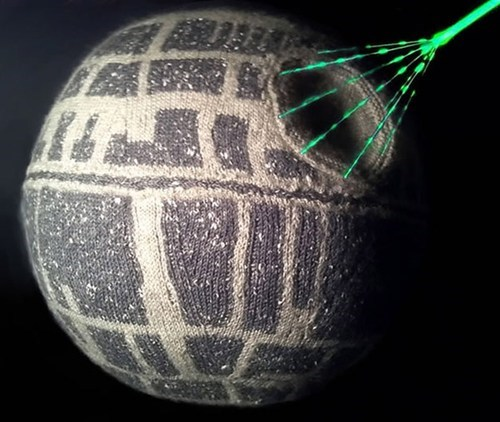 Knitted Death Star of the Day