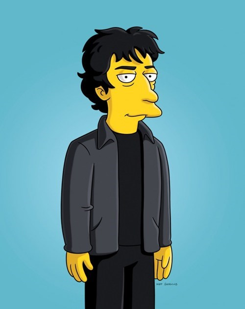 Neil Gaiman Simpsons Cameo of the Day