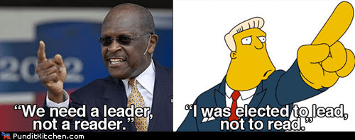 Hall of Fame,herman cain,literacy,political pictures,the simpsons
