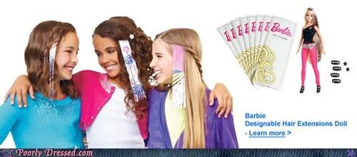 Barbie,hair extensions,mattel,toys