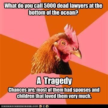 Anti-Joke Chicken Goes Pro Bono