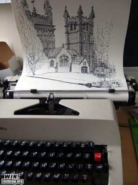 art,ascii art,letters,typewriter,typography