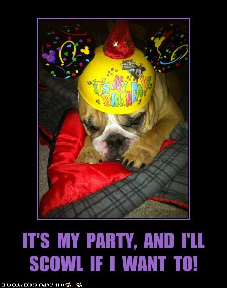 IT'S  MY  PARTY,  AND  I'LL  SCOWL  IF  I  WANT  TO!