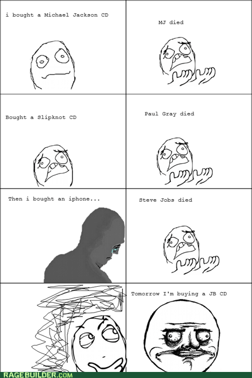 Death,iphone,justin bieber,Rage Comics