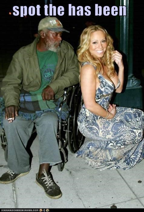 singers,has been,homeless,mariah carey,wtf