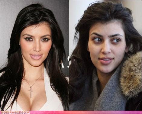 Celebs Without Makeup: Kim Kardashian