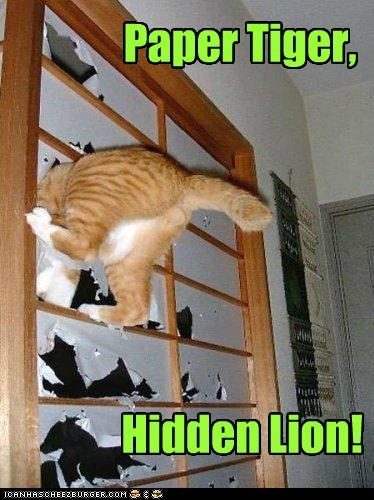 Paper Tiger, Hidden Lion!