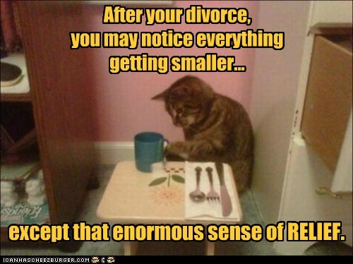 After your divorce, you may notice everything getting smaller...