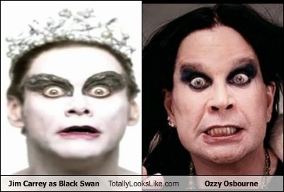 Jim Carrey as Black Swan Totally Looks Like Ozzy Osbourne