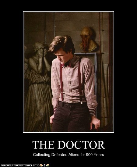Aliens,defeated,doctor who,Matt Smith,ood,the doctor,weeping angels