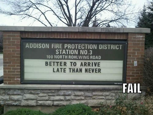 Fire Department Motto FAIL